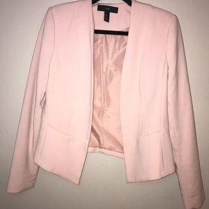 Blush Pink Fitted Blazer